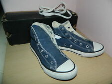 .Converse navy textile high top lace up trainers uk 1 eur 33 * nice condition