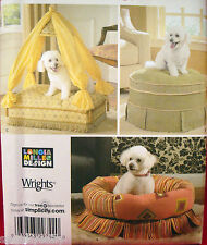 Simplicity 4187 DOG PET CANOPY BED FANCY SKIRTED BEDS Sewing Pattern New
