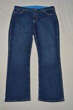 Q-Baby Wrangler 15 / 16 x 30 No Gap Waistband Boot Cut Medium Denim Jeans