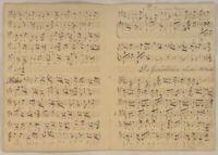 gemütlicher LÄNDLER Noten Musik Handschrift Original Doppelblatt um 1790 tanzen