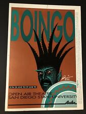 Oingo Boingo Concert Poster San Diego State June 1990 New Wave Danny Elfman