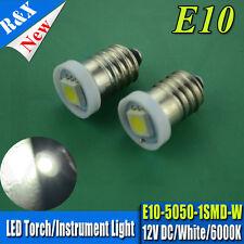 2x MGB MGC MIDGET E10 5050 SMD MES LED Bulb Instrument/Dash Upgrade Xenon White