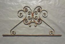 217 X 76 cm - Ancien petit fronton de porte, portillon, en fer forgé
