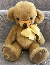 "Vintage Merrythought Cheeky Teddy Bear w/ Bells & Original Labels 12"""