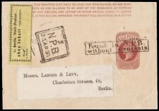 ½d. Brown Newspaper Wrapper. Address label to BERLIN…