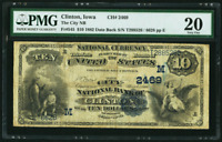 IOWA DATE BACK ~ 1882 $10 Clinton, IA National Currency Fr. 545 CH# 2469 reduced