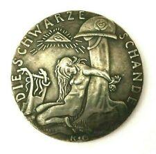 Large German Silvered Medal 1920 / Weimarer Republik / Ww I / Exonumia Token