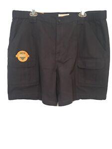 Savane Mens Sz 40 Dark UPF30 Tech Pocket Comfort Hiking Cargo Casual Shorts NWTs