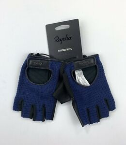 RAPHA Classic Crochet Mitts Gloves Navy Size Large New