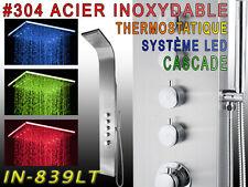 839LT LED THERMOSTATIQUE Panneau colonne de douche ,ACIER INOXYDABLE , CASCADE