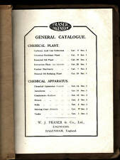 FRASER DAGENHAM CHEMICAL  ( MACHINERY ) PLANT CATALOGUE c1910'S stills ah