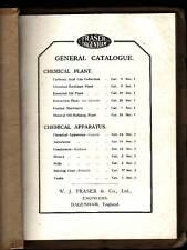 FRASER DAGENHAM CHEMICAL  ( MACHINERY ) PLANT CATALOGUE c1910'S stills ah