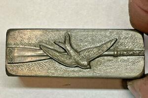 Rare Victorian SPARROW BIRD OAR Antique Jewelry Mold Hub Hob Steel Silversmith
