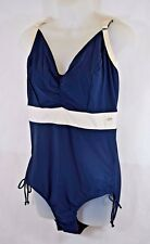 Bnwt Ballet Just Be Navy/Cream Underwired Acupalco Swimsuit - UK 36D