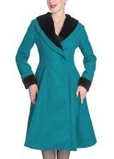 Hell Bunny Impressionen Mantel Fell Vintage smaragd grün schwarz Gr.M 38  NP190€ 92fc27768f7