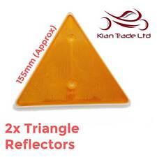 Triangolo Ambra Arancione 2 pezzi di grandi dimensioni Rimorchio Caravan ingresso viale muro
