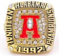1992 ALABAMA CRIMSON TIDE NATIONAL CHAMPIONSHIP REPLICA RING