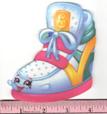 SHOPKINS on go SNEAKY WEDGE fabric iron-on applique NO SEW grocery pal sneaker