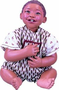 ABC Rusty Afro African American New Resin Baby Boy Doll