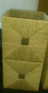 Ikea Kallax Wicker Baskets X2 seagrass
