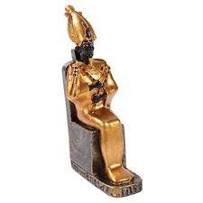 "Ancient Egyptian Miniature Doll House Small Sculpture God Osiris on Throne 3"""