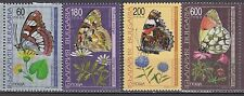 BULGARIA 1998 ** MNH SC # 4052 - 4055 The Butterflies and Flowers