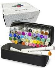 ColorIt 50 Art Marker and Case for Adult Coloring Alcohol Sketch Markers - NEW