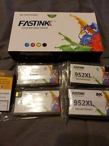 Fastink 952xl   Remanufactured ink  Cartridges 4 Pack NiB.