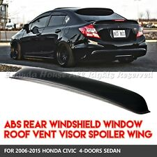 FOR 06-15 HONDA CIVIC JDM 4DR WINDOW TOP ROOF VISOR SUN GUARD BLOCK ABS SMOKE