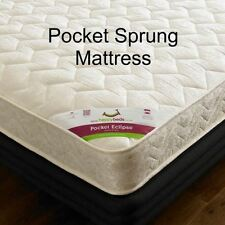 Faux Leather Modern Pocket Sprung Beds with Mattresses