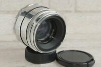 silver Helios 44 58mm f./ 2 2/58mm M39 / M42 MMZ Lens mount 8 blades