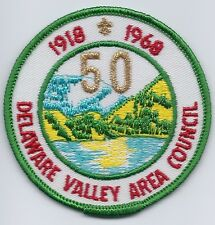 Boy Scout patch Camp Weygadt 50th Anniversary 1968 Delaware Valley Area Council