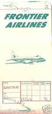 Ticket Jacket - Frontier - Convair - White - Lincoln Kansas City stamps (J1888)
