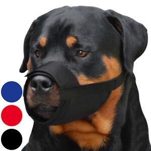Nylon Dog Muzzle Rottweiler Saint Bernard Newfoundland Secure Adjustable Black