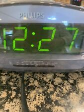 Philips Digital Alarm Clock FM Radio AJ3116M/37 Tested Working -Like MINT