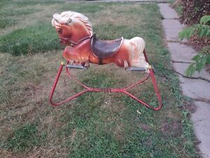 Vintage Antique Hobby Rocking Horse Spring Bouncy Play Toy Horse