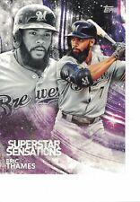 "2018 Topps Superstar Sensations 5""x7"" #/49 Eric Thames Milwaukee Brewers JUMBO"