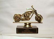 MOTORCYCLE TROPHY, BIKE AWARD, MOTORCYCLE SHOW CHOPPER WHEEL DOWN
