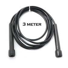 SPEED SKIPPING JUMP ROPE BLACK 3 Meter BOXING CARDIO MMA SPORT WARM UP