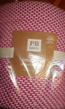 Pottery Barn Teen Classic Cotton Blanket Bright Pink