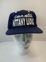 Vintage Penn State University Nittany Lions Snapback Hat Cap The Game Script 90s