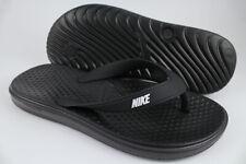 Nike Solay Thong Womens Slide Sandal Black White Size 6