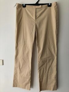 Womens Witchery 12 Dress Wide Leg Flat Front Pants Camel