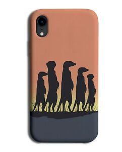 Meerkats Silhouette In The Sunset Phone Case Cover Meerkat Africa African J731