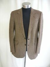"Mens Suit Jacket Austin Reed size 40"" Reg, brown textured 100% lambswool 7965"