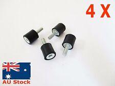 4pc M4 Vibration Rubber Shock Mount Bobbin 10X10mm Male Female MF Single End