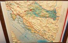 SMALL VINTAGE CROATIA RAISE MAP