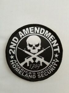 2nd Amendment American Security sublimation iron or sew on 3 inch patch badge