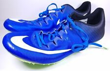 Nike Size 12.5 Zoom Superfly Elite Running Track Fixed Spikes Blue 835996-413