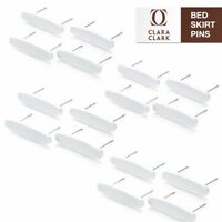 Bed Skirt Pins - Pack Of 16 Pins - Keeps Bedskirt In Place